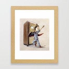 Serial Superhero Framed Art Print