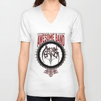 band V-neck T-shirts featuring Amazing Band by Ethan Raney Jarma