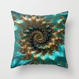 Aqua Supreme Throw Pillow