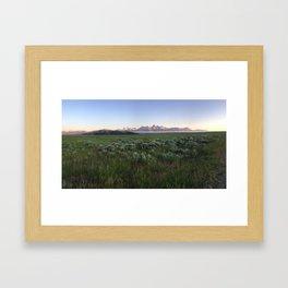 American Cloud Piercers Panorama Framed Art Print