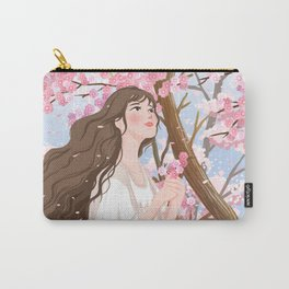 Girl In Flower Sea Carry-All Pouch