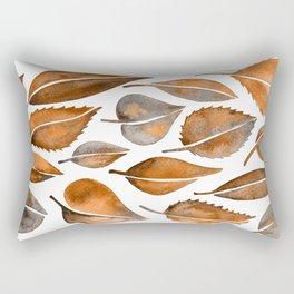 Cascading Leaves – Orange Palette Rectangular Pillow