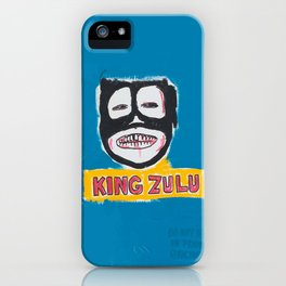 King Zulu Homage to Basquiat iPhone Case