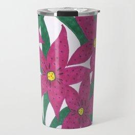 Ultra Violet Lily Bouquet Travel Mug