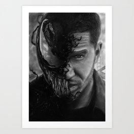 Eddie Brock/Venom Art Print