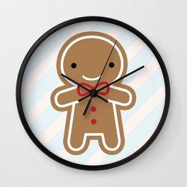 Cookie Cute Gingerbread Man Wall Clock