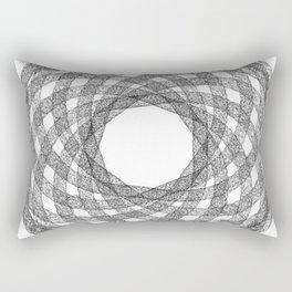 GEOMETRIC NATURE: HELIX w/b Rectangular Pillow