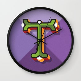 "Typographic Letter ""T"" Wall Clock"