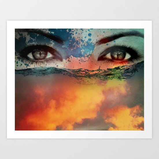 fire and water Art Print
