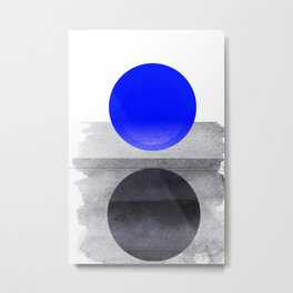 Blue #Planet Metal Print