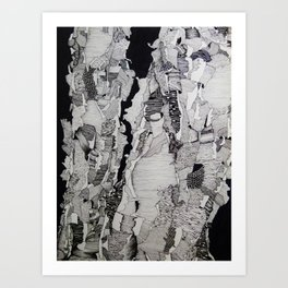 Patterned Birches Art Print