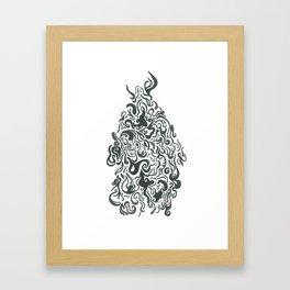 Line Monster Framed Art Print
