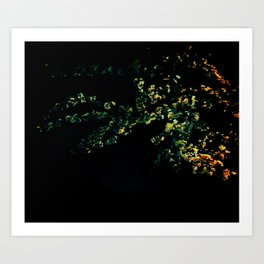abstract flower bouquet in the moonlight Art Print