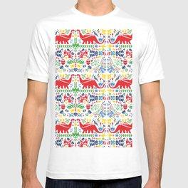 Swedish Folk Art Dinosaurs T-shirt