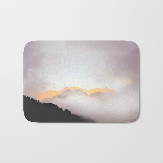 Pastel Mountains #photography Bath Mat