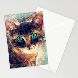 cat art 3 Stationery Cards