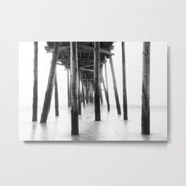 Black & White Long Exposure / Outer Banks, NC Metal Print