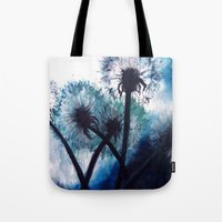 coconut wishes Tote Bags featuring Wishes by Lydia Martin