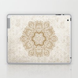 Mandala Temptation in Cream Laptop & iPad Skin