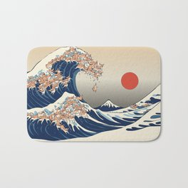 The Great Wave of Chihuahua Bath Mat