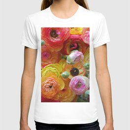 Bunch of Ranunculus Flowers T-shirt