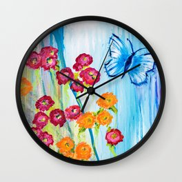 Beautiful Blossoms Wall Clock