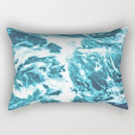 Tropical Turquoise Waves - nature photography Rectangular Pillow