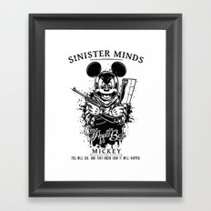 Sinister Minds. Mickey Framed Art Print