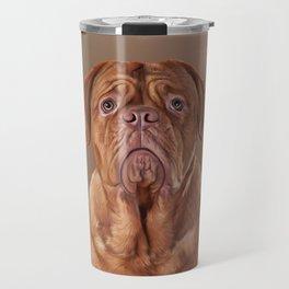 Drawing dog portrait Dogue de Bordeaux Travel Mug