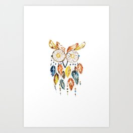Owl Dreamcatcher Art Print