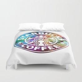 Galaxy Starbucks Duvet Cover