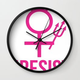 #RESIST NEVER THE LESS SHE PERSISTED Wall Clock