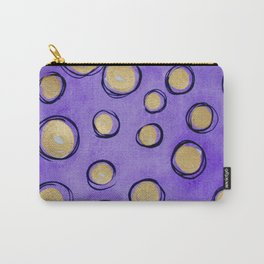 Dots (Purple & Gold) Carry-All Pouch