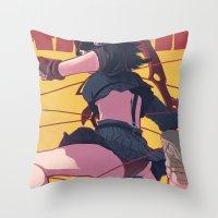 kill la kill Throw Pillows featuring Kill la Kill by MATT DEMINO