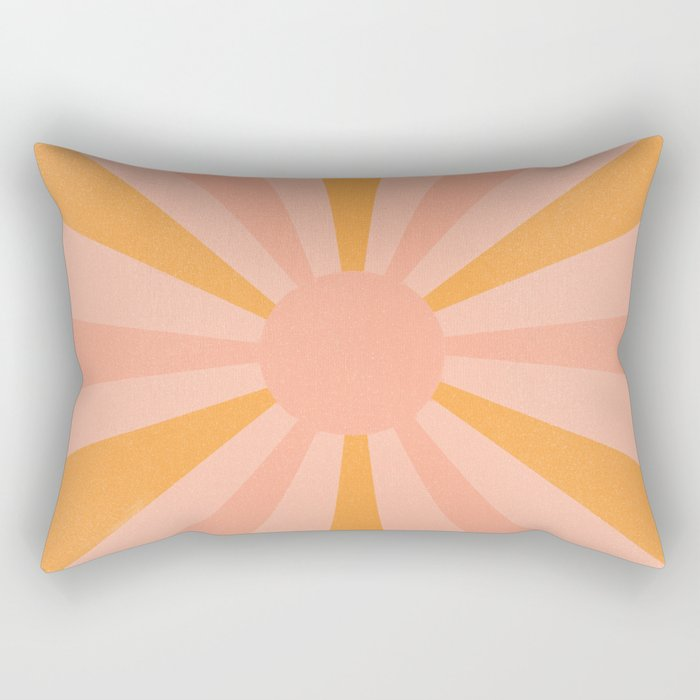 pink and orange sunshine Rectangular Pillow