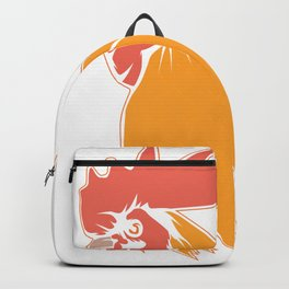 Rooster Cock Head Feather Chicken Bird Gift Backpack