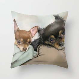 Like Two Chi's In A Pod Throw Pillow