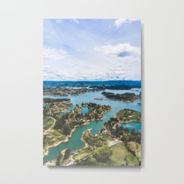 View from El Peñón de Guatapé, Antioquia, Colombia Metal Print