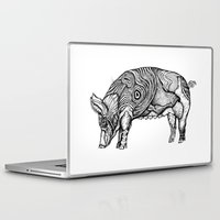 pig Laptop & iPad Skins featuring Pig by Ejaculesc