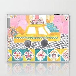 Big Yellow Taxi Laptop & iPad Skin