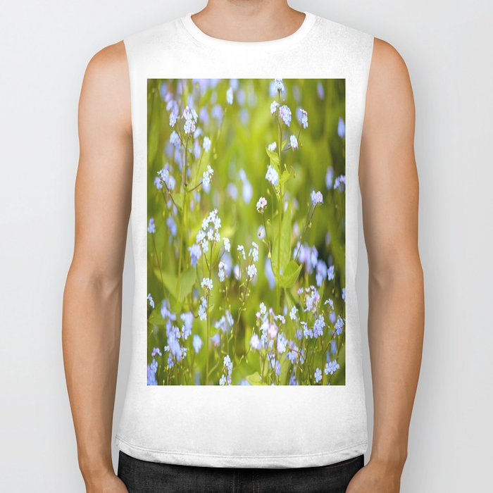 Forget-me-not Flowers In Nature #decor #society6 Biker Tank