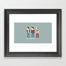 Back to the Future 8-Bit Framed Art Print
