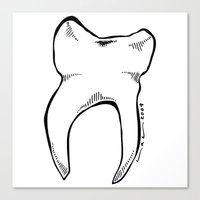 tooth Canvas Prints featuring Tooth by Addison Karl