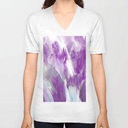 Violet Flower Garden Unisex V-Neck