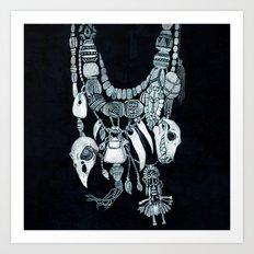Voodoo Amulets Art Print