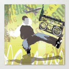 ghetto blaster Canvas Print