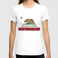 oakland T-shirts featuring Oakland California Republic Flag Distressed  by NorCal