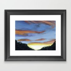 Sunset on the Road 2 Framed Art Print
