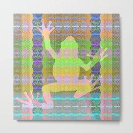 Visionary Frog Medicine Sacred Geometry Print Metal Print