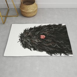 Black Puli Dog Rug